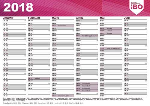 Übersicht Veranstaltungen 2018